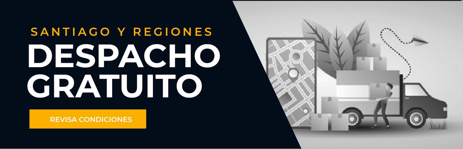 Despacho Gratuito a Santiago y Regiones